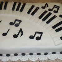 Piano Recital Cake Yellow cake with homemade fondant for the decorations. Thanks to other CCers who made similar cakes for the wonderful inspiration!