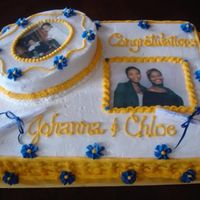 College Grads I did this cake for my cousins