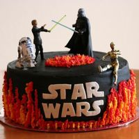Starwars ice cream cake. based on a cake made by iloveconfections.