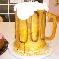 Beer Mug It's a beer mug with a fondant handle