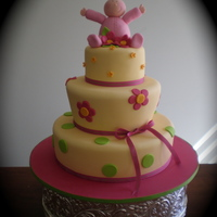 Three Tier Baby First Birthday Cake