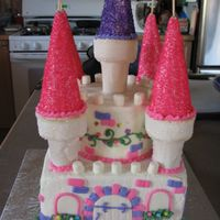 Princess Castle I made this cake for a little girl's Disney Princess themed party.I decided there were too many faces to do if I went with the Disney...