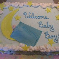 Baby On The Moon I have always loved the cakes I've seen on here with this celestial theme.This was my first time molding a baby.I thought he turned...