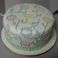 Brushed Embroidery Practice Cake