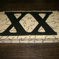 Roman Numerals Roman numerals for a girl turning 20. Buttercream with gumpaste flowers. It is 2 x 10 inch cakes, one chocolate and one vanilla.