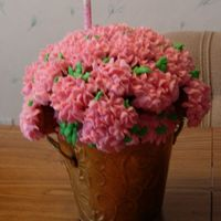 Cupcake Flowers For my mother-in-laws birthday.