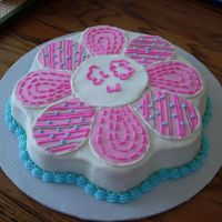 Petal Cake Cake made to match the pillows and bedding for the nursery.