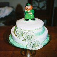St.. Patrick's Day This is the first cake I did on my own. It was a white cake with buttercream icing.
