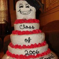 Tooth Graduation White cake filled with cream cheese filling covered in buttercream dream icing... Bad tooth day...HAHAHA