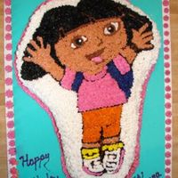 Dora Birthday Chocolate Fudge cake with Creamcheese buttercream icing