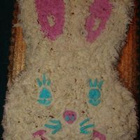 Easter Bunny 2 Was in a huge rush on this so no undercoat on this bunny... He going naked under all that fur.. Thats what they get when they want a cake...