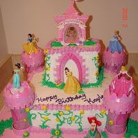 Princess Birthday Stacked White/chocolate birthday cake with buttercream icing.. 1st castle cake I ever made..