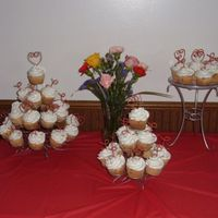 Wedidng Shower Cupcakes  My customer ordered 100 cupcakes for a bridal shower. It was around Valentine's Day, so they did red & white colors. Both the...
