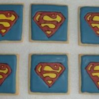 Superman Cookies A coworker ordered these for her boyfriend, a huge Superman fan. They are NF Sugar Cookies with Antonia's RI.