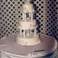 Snow Princess My very first wedding cake back in the day....many moons ago. It isstill my favorite cake because of the cornelli lace and forget me nots...