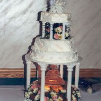 Ddlabarrecake.jpg My Aunt and Uncles's wedding cake; I had a wedding to go to the previous night and in the morning deliver this to the restaurant,...