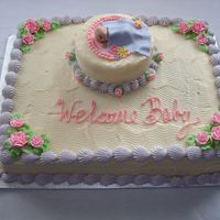 Nappy Time - Carrot Cake With Cream Cheese Frosting A Healthy Carrot Cake for mom-to-be with baby in fondant. Fun to make, although I would do a smooth combing or no combing as the effect I...
