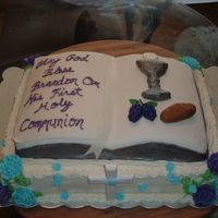 Bible Cake The cake is vanilla butter cake with white chocolate buttercream icing. The filling is half choc and half vanilla pudding. The bible cake...