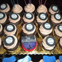 Hey Dj! There was a special cupcake for the Dj herself with the mini turntable and the rest of the cupcakes had records of her fave songs and her...