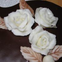 "Chocolate Roses Made of white chocolate. First time working with this kind of modeling ""clay"". Fun to work with."