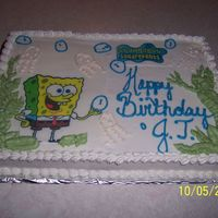 Spongebob Cake For My Nephew My nephew just happend to be down our way for his birthday. He wanted Spongebob but since it was short notice I only had time to print an...