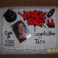 Graduation Cake My neice graduated high school and insisted on having a pic of herself on her cake. She was so funny, she didn't want us to cut the...