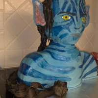 Avatar I made this cake for my sons 6th Birthday, it is all cake, I cheated and used cheap plain brand vanilla cake mix for it, it took 13 packets...