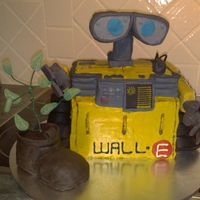 Wall-E My son asked me to make him a Wall-E cake for his 7th birthday. It is a multi layered choc mud cake, with chomp chocolate bars for arms and...
