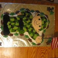 Soldier Cake Soldier cake made from the Bob the Builder pan