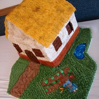 Pauper Cottage This cake was to go with the castle cake for a Ladies Meeting at my church. I loved these cakes.....was very close to tears when i had to...