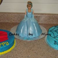 Triplets' Birthday  I made this for my friend's triplets, they all wanted a different theme for the party and instead of creating a caos cake trying to...