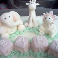 Baby Shower Cake Toppers little animals made from MMF, first time making anything like this and thought they were cute. i did use the tutorial on here to help with...