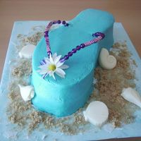Flip Flop Cake This was my first attempt a ta flip flop cake. i got the idea for the beeded straps from another cake on here. i decided it would add a...