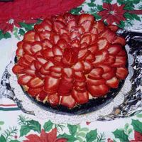 White Chocolate Strawberry Cheesecake This is my white chocolate cheesecake with strawberries, the taste is wonderful.