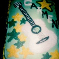 Guitar Cake buttercream (odd colors but thats what she liked :)