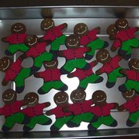 Gingerbread Men Cookies Made these for DH shop.