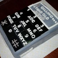 Cell Phone Birthday Cake All fondant & fondant decorations, silver dragees.....