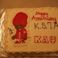 Kappa Alpha Psi Anniversary Cake Here is a cake i did for a Kappa's Anniversary. The image is a FBT- I need to work on the detail a bit, the color red is so hard to...