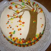 Fall Cake I know around here that the leaves haven't really started turning yet, but I kind of wanted to do a fall cake and a back to school...