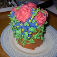 Flower Pot Ok don't laugh...ok, go ahead. I don't mind. I laughed all the way through this one. I bought the large cupcake pan with the...