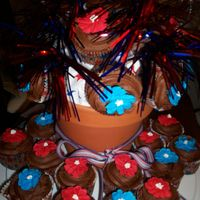 Memorial Day Cupcake Bouquet Thanks CC for the cupcake bouquet tutorial. This was a big hit at the bbq. Chocolate cupcakes, chocolate bc and royal icing flowers. Thanks...