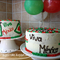 Mexican Independence Cake This cake was made for celebrete the independence of Mexico...the guests was mexican kids in Stockholm, Sweden