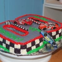 Dale Jr. Side view of cake.