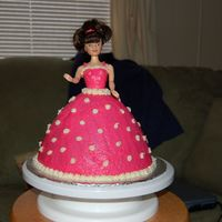 Princess Cake made for nieces 3rd birhtday. buttercream cake and icing.