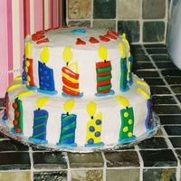 Birthday Candles i made this cake for my husband for his birthday. i got the idea out of the wilton yearbook 05' or 06'. i changed it up a little...
