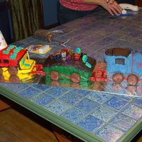 Train Cake First 3-D cake. Not exactly how i wanted it to turn out but pretty good for first try.