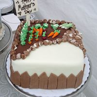 Garden Cake! All decorations are MMF