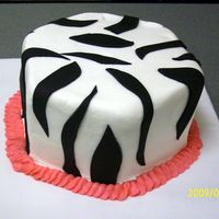 Zebra Print This was for a cake auction.