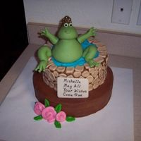 Frog Wishing Well Here is the birthday cake that I made for my daughter. Thanks to CakesUnleased for sending Tuggy's instructions for the frog. My...