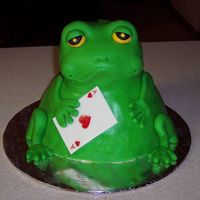 Ace Of Hearts Frog Made from one of Debbie Brown's books. Person wanted a frog holding an ace of hearts.